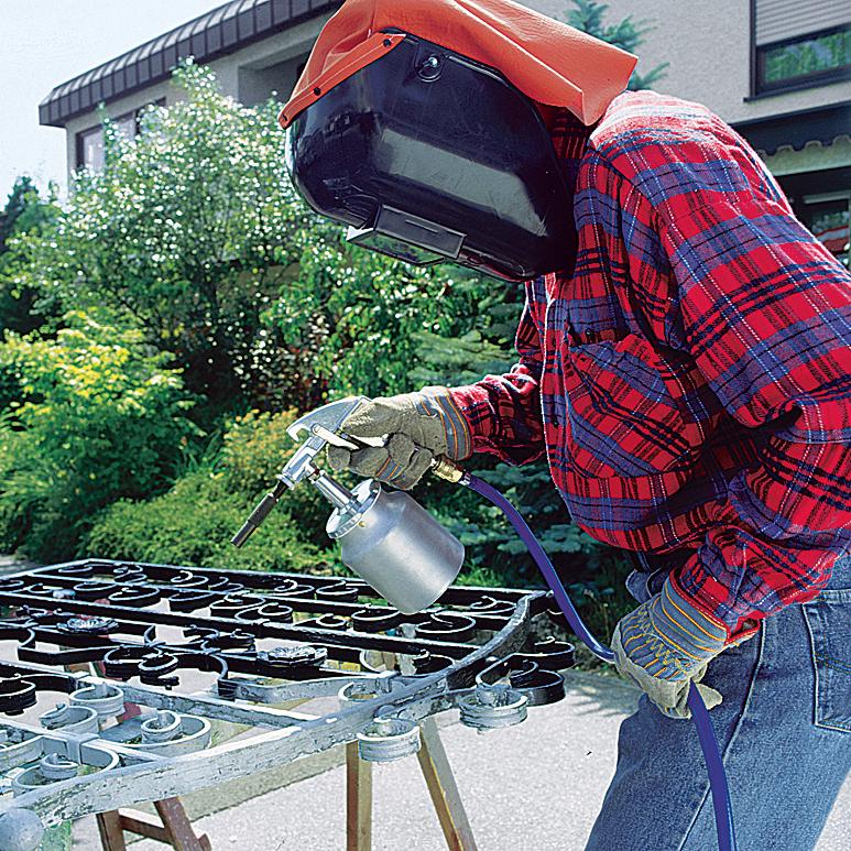Arbeiten mit Druckluftwerkzeugen