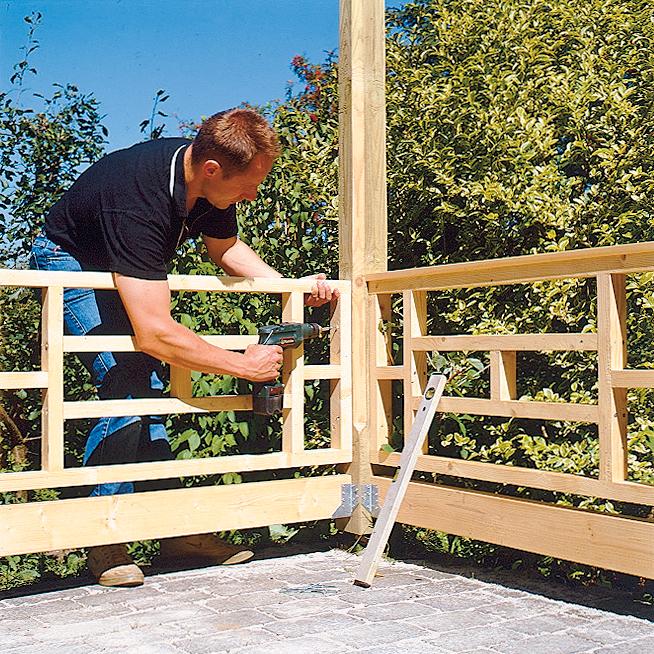 Gartenlaube: Geländer & Handlauf