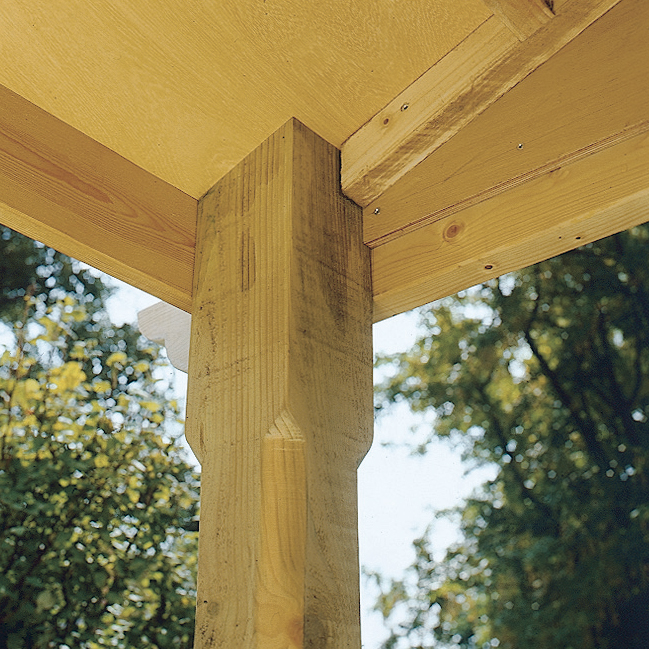 Detail: Eckverbindung im Dach