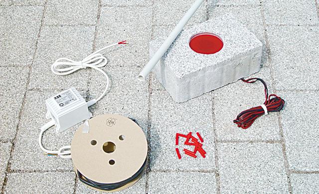 LED-Leuchtstein Installationsset