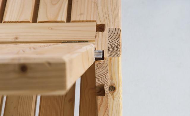 Liegestuhl bauen