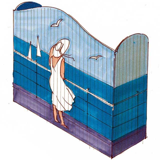 Bretterwand aus Schalungstafeln