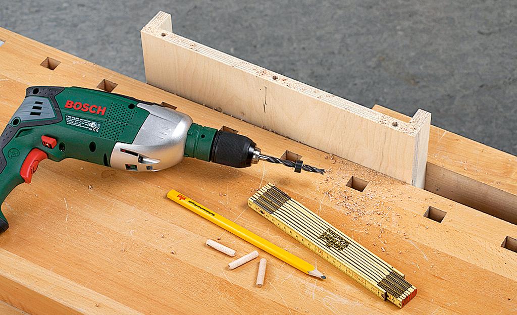 Noppenhocker bauen