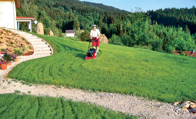 Rasenmäher mit Radantrieb