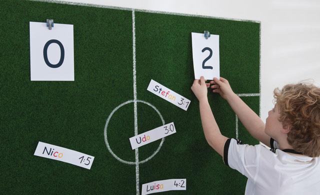 Fußball-Anzeige-Tafel