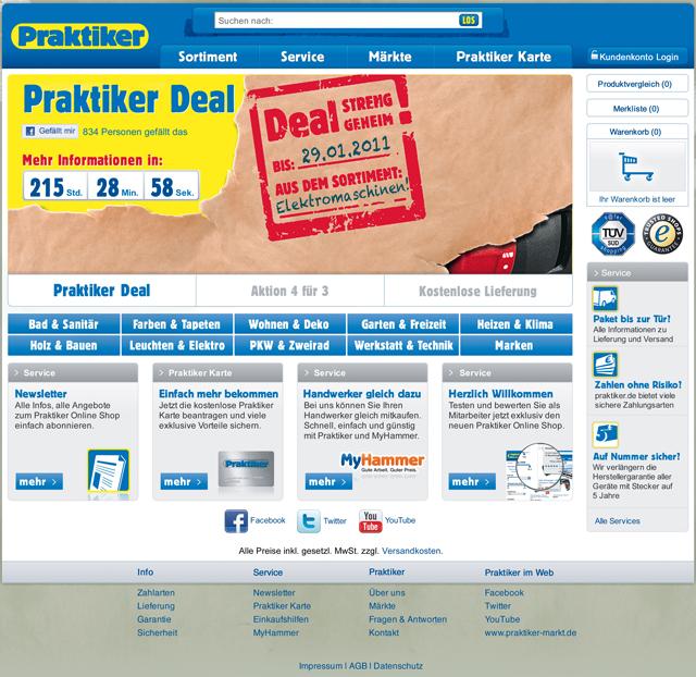 Praktiker-Online-Shop: Startseite