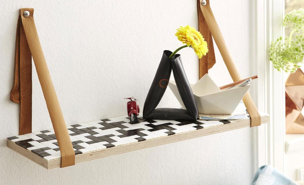 regal mit mosaik. Black Bedroom Furniture Sets. Home Design Ideas