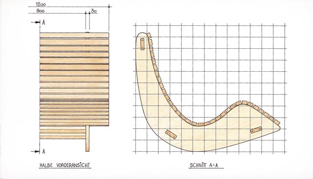 Berühmt Saunaliege aus Holz | selbst.de IF79