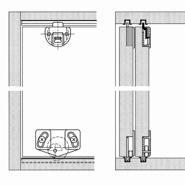 schiebet rbeschlag f r schrankt ren haus deko ideen. Black Bedroom Furniture Sets. Home Design Ideas