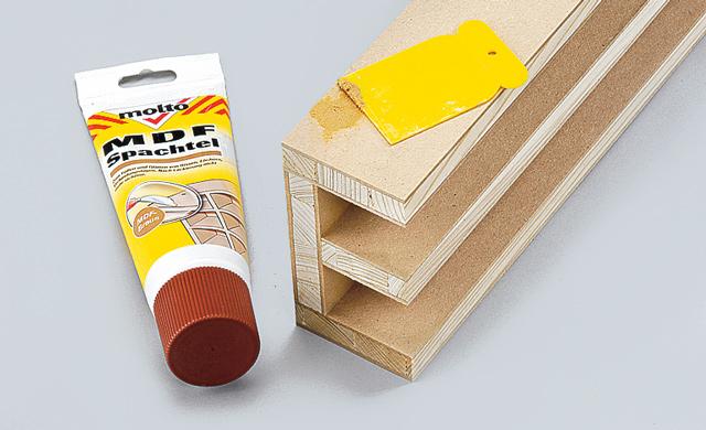 Holzspachtel verwenden