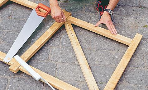 Schritt 5: Diagonalstrebe ausrichten
