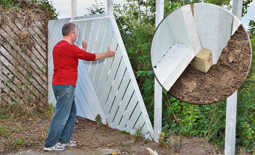 Zaun: Sichtschutz bauen