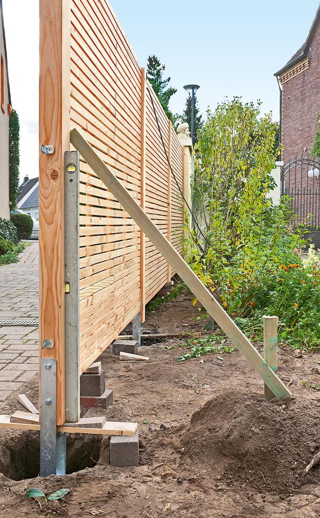 Extrem Sichtschutzzaun Holz | selbst.de PG12
