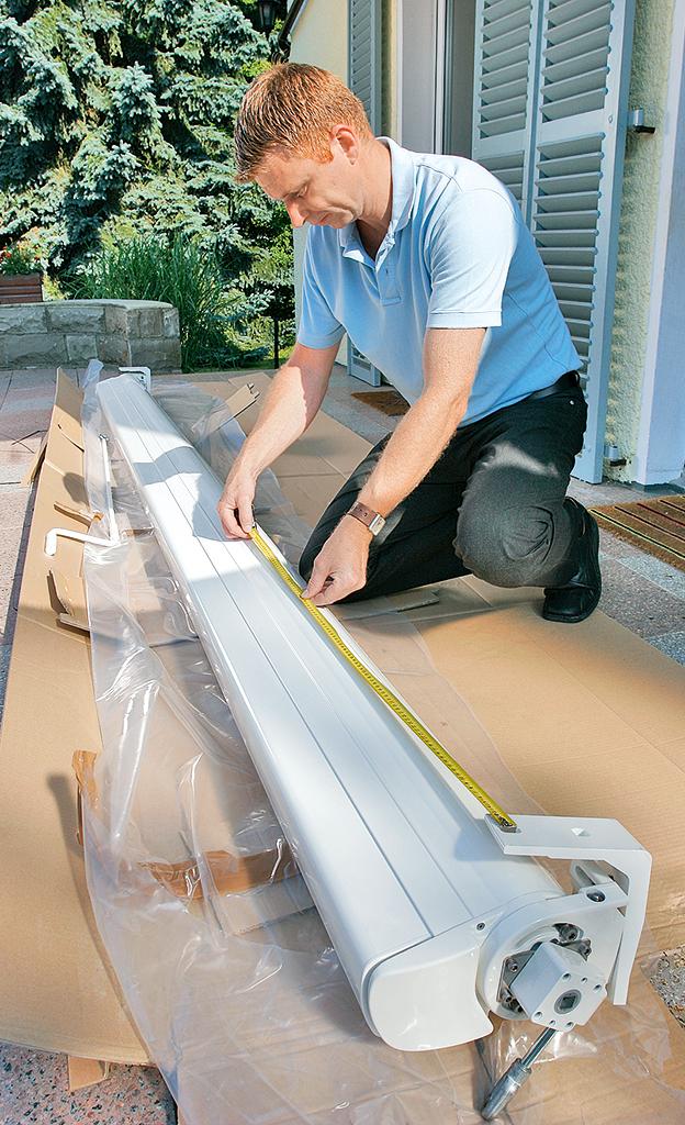 markise montieren garten balkon. Black Bedroom Furniture Sets. Home Design Ideas