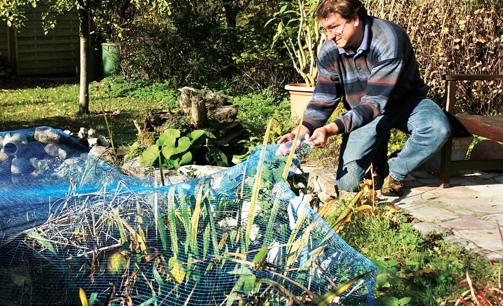 Gartenteich winterfest machen