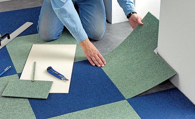 Teppichfliesen haus deko ideen - Teppichfliesen selbstklebend verlegen ...