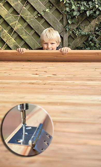 Holzpodest aus Terrassendielen
