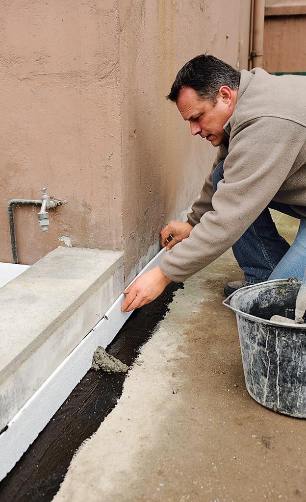 Betonfundament für Terrasse