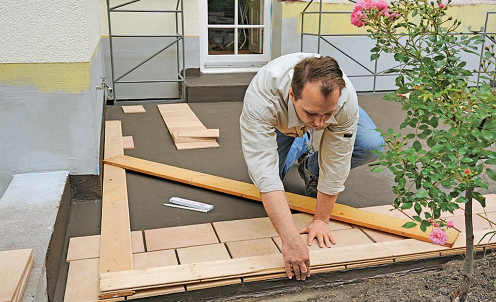 Fußboden Um 2 Cm Erhöhen ~ Terrasse fliesen selbst.de