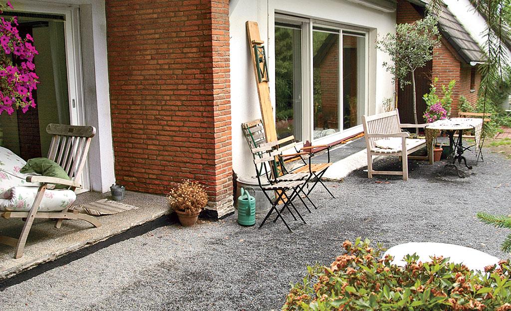 Terrassen len verlegen Holzterrasse