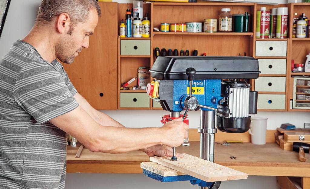 tischbohrmaschine von bosch selbst ausprobiert. Black Bedroom Furniture Sets. Home Design Ideas