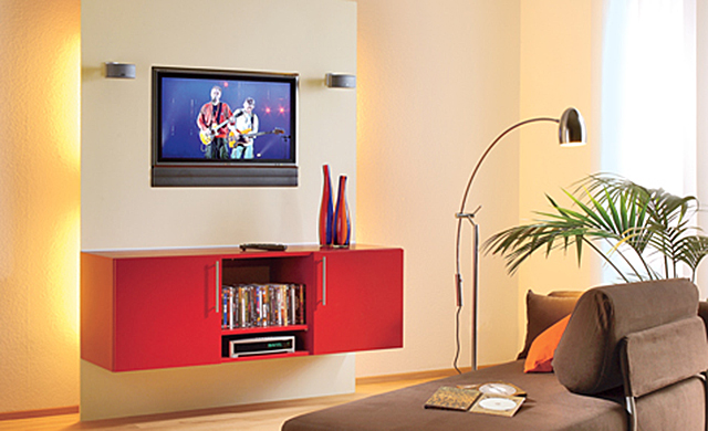 tv wand mit h ngeschrank b rom bel mediam bel. Black Bedroom Furniture Sets. Home Design Ideas
