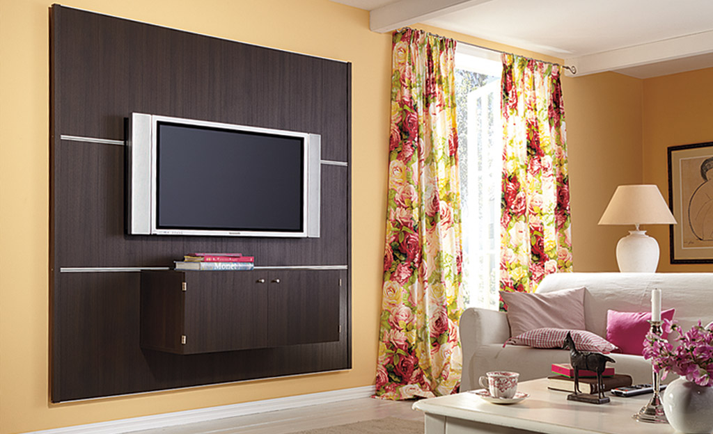 tv wand montage elektro leuchten. Black Bedroom Furniture Sets. Home Design Ideas