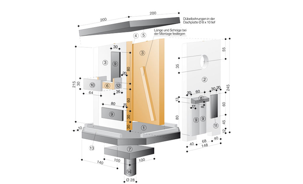 vogelhaus bauanleitung m bel ausstattung. Black Bedroom Furniture Sets. Home Design Ideas