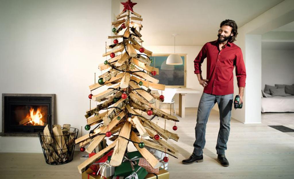 Tannenbaum aus holz bauen for Gartendeko aus holz basteln