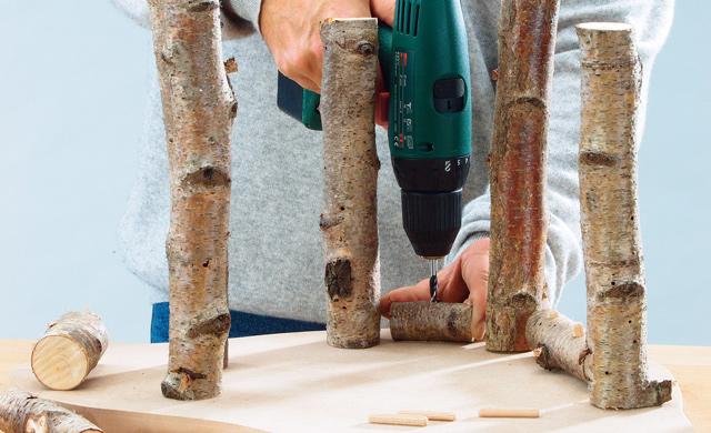 Querholz anbohren