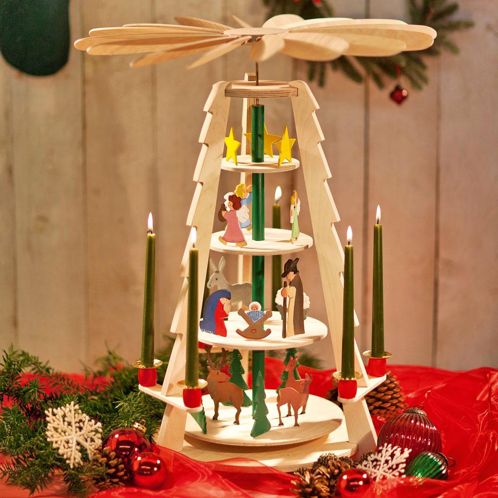 bauanleitung: weihnachtspyramide | selbst.de