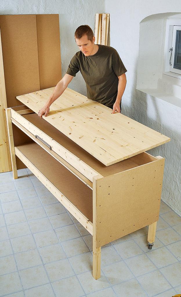 mobile werkbank bauen holzarbeiten m bel. Black Bedroom Furniture Sets. Home Design Ideas
