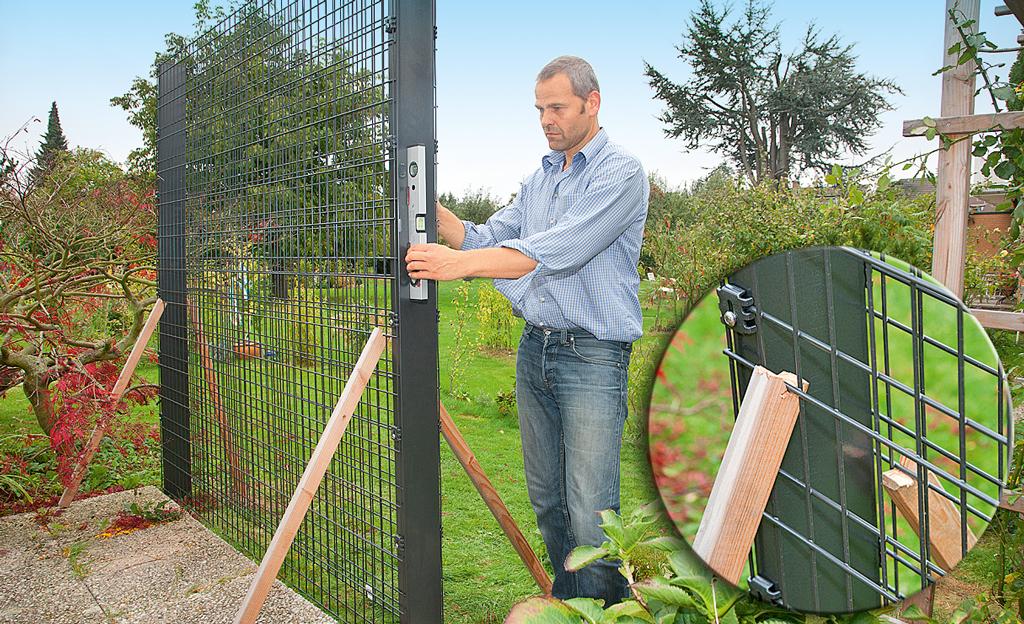 Sichtschutz-Zaun aus Gabionen