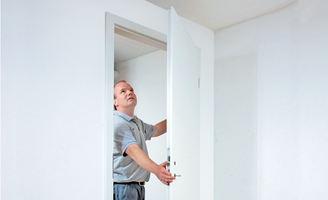 Tür einhängen