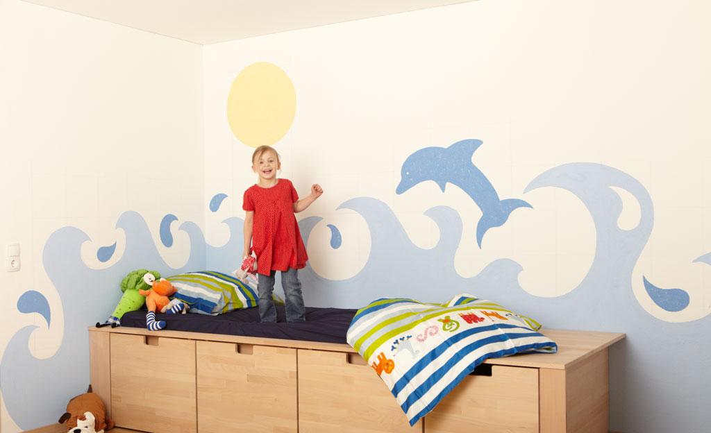 Kinderzimmer: Wandmalerei