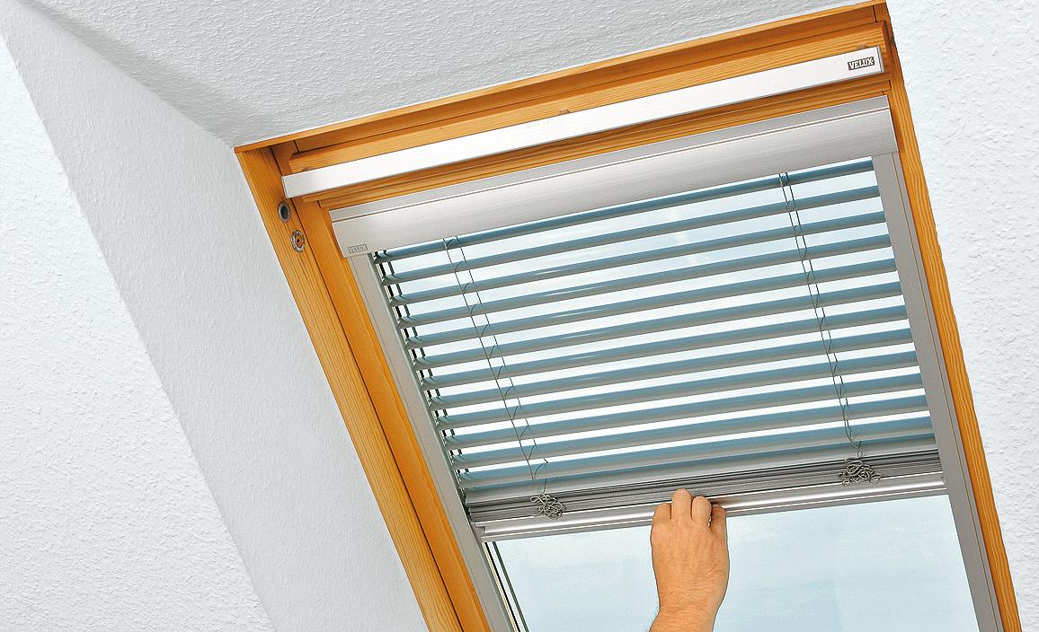 Alu-Jalousien für Dachfenster