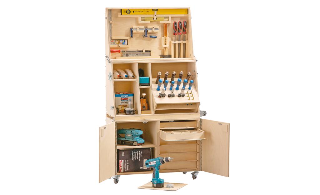 bauanleitung werkzeugkasten selber bauen bauplan auf. Black Bedroom Furniture Sets. Home Design Ideas