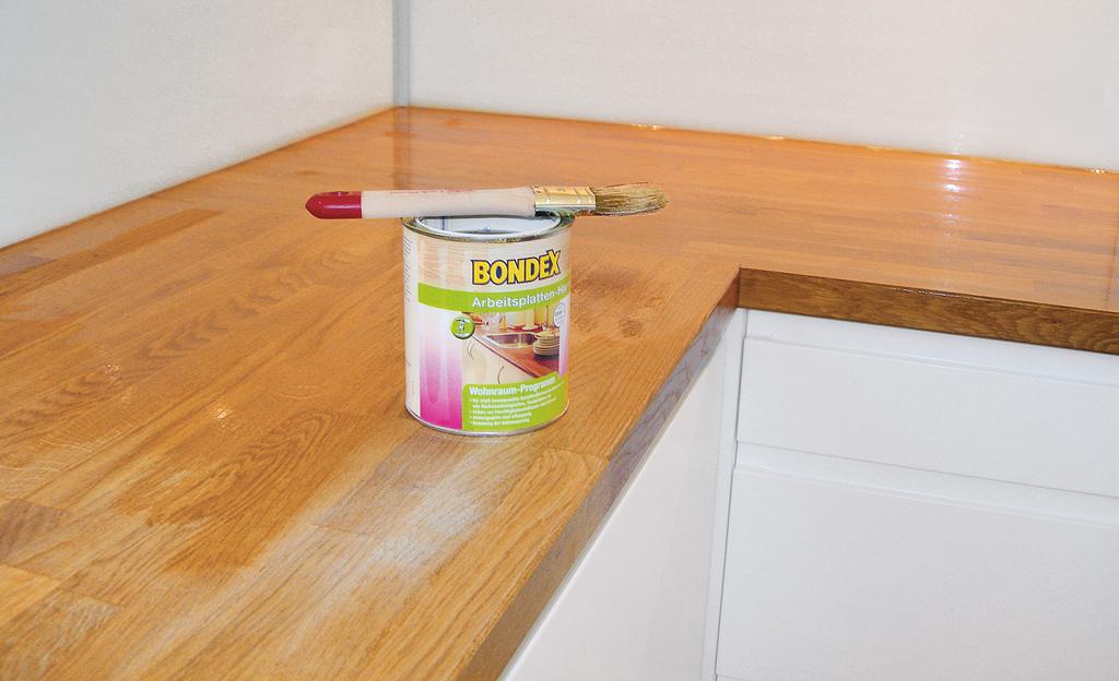 Küchen-Arbeitsplatte ölen
