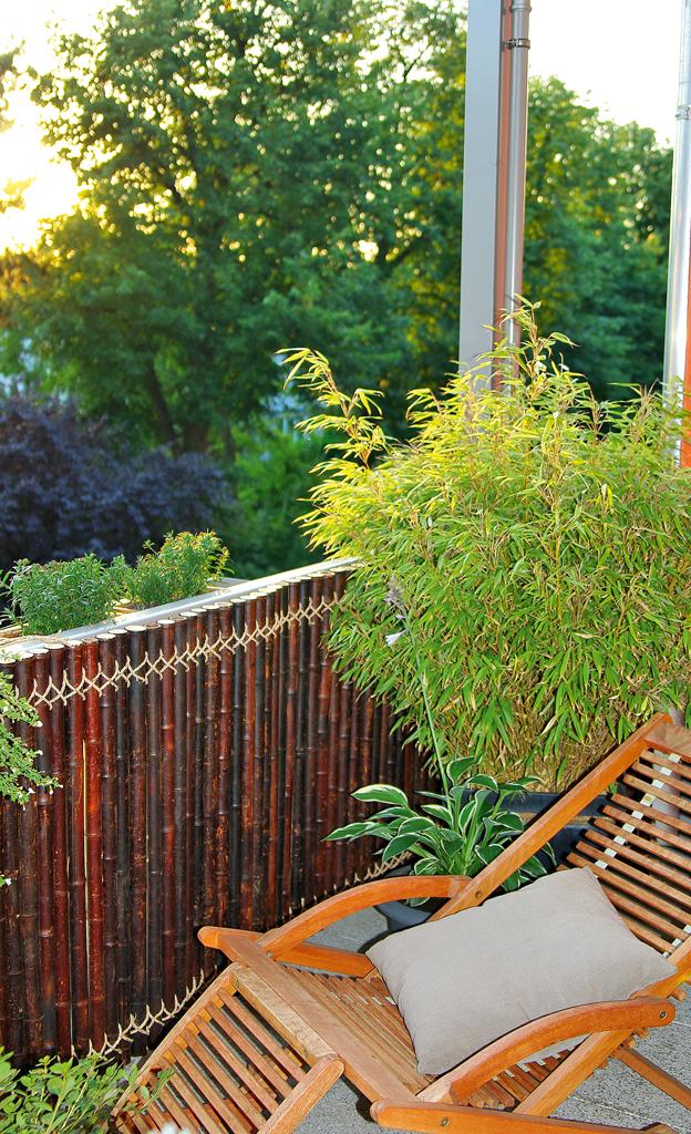 Bambus-Sichtschutz für den Balkon