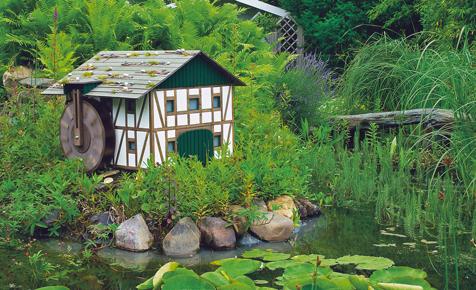 Bauplan: Fachwerk-Wassermühle