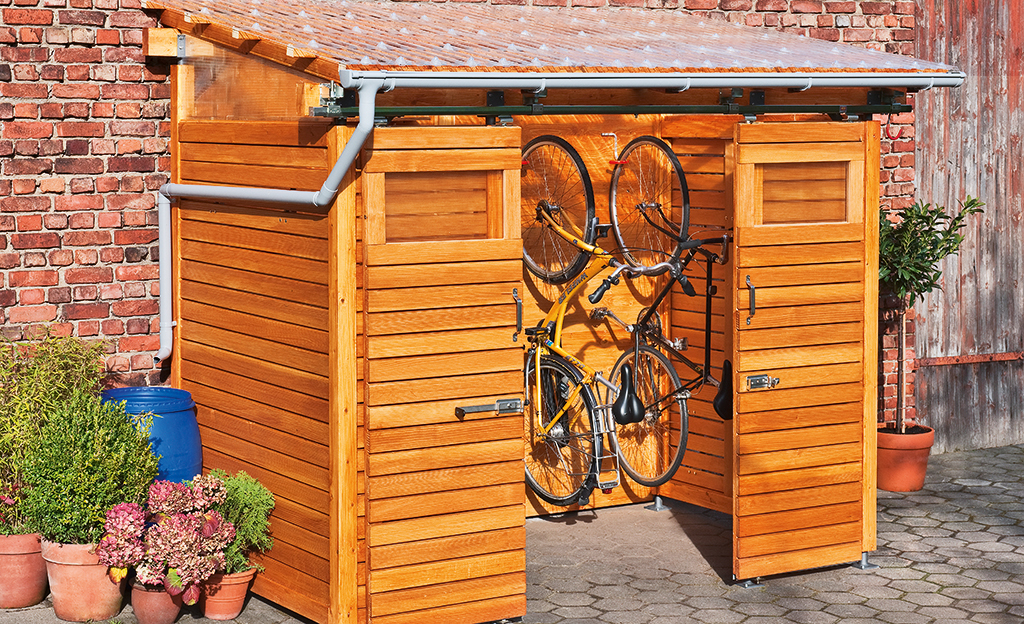 fahrradbox bikeport schuppen bild 17. Black Bedroom Furniture Sets. Home Design Ideas