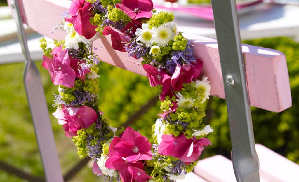 Blumenkranz selber binden
