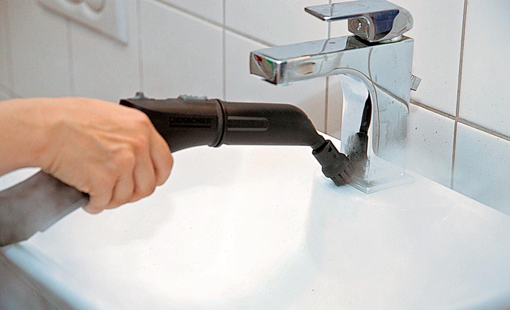 Dampfreiniger: putzen und desinfizieren