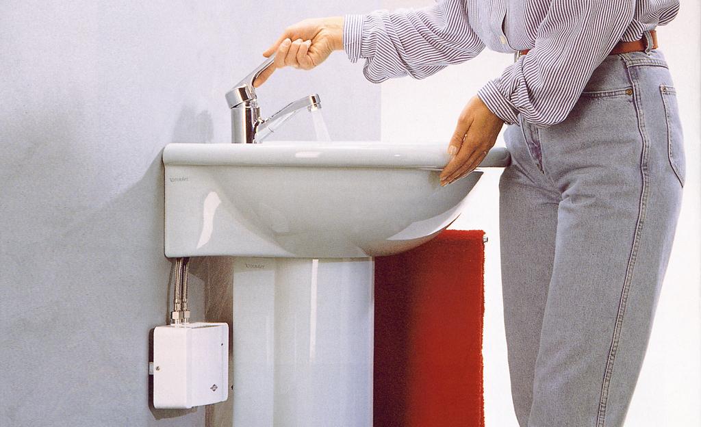 druckloser durchlauferhitzer f r niederdruck armatur waschbecken wc. Black Bedroom Furniture Sets. Home Design Ideas