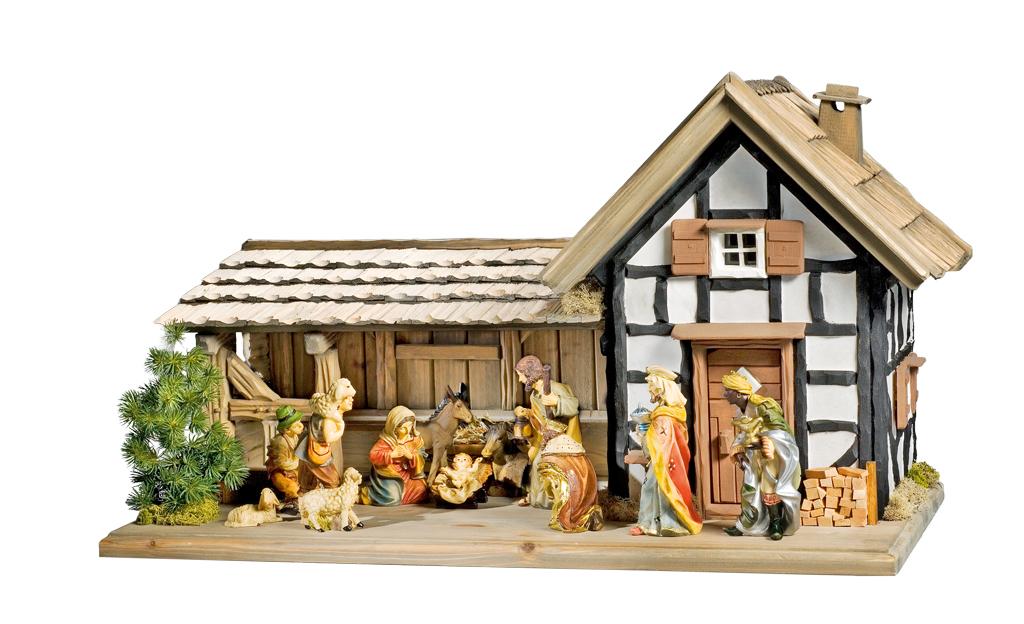 Weihnacht: Fachwerkkrippe bauen