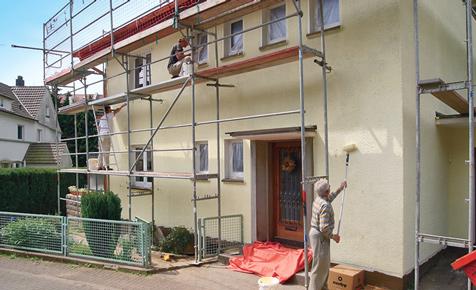 Hausfassade selber streichen