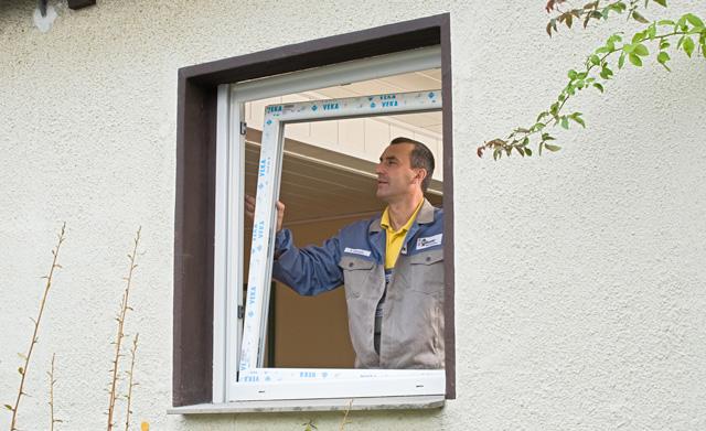 Einbau neuer Kunststofffenster