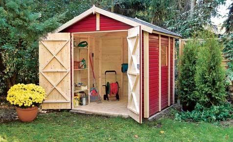 Aufbau eines Gartenhaus-Bausatzes