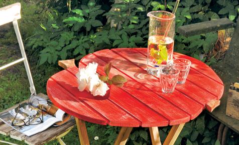 Gartenmöbel: Klapptisch aus Holz bauen