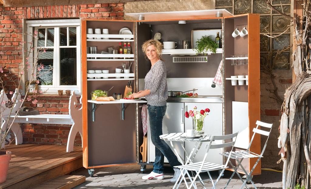 Garten-Küchenblock
